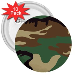 Army Shirt Green Brown Grey Black 3  Buttons (10 pack)