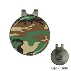 Army Shirt Green Brown Grey Black Hat Clips with Golf Markers