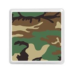 Army Shirt Green Brown Grey Black Memory Card Reader (Square)