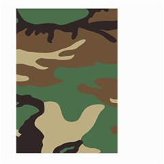 Army Shirt Green Brown Grey Black Large Garden Flag (Two Sides)