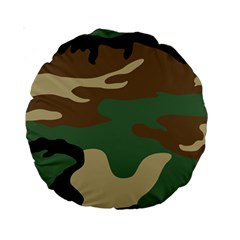 Army Shirt Green Brown Grey Black Standard 15  Premium Round Cushions