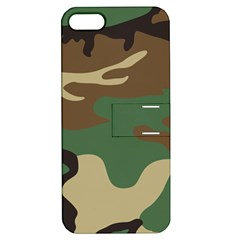 Army Shirt Green Brown Grey Black Apple iPhone 5 Hardshell Case with Stand
