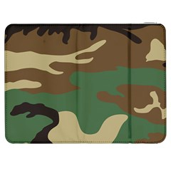 Army Shirt Green Brown Grey Black Samsung Galaxy Tab 7  P1000 Flip Case