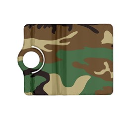 Army Shirt Green Brown Grey Black Kindle Fire HD (2013) Flip 360 Case