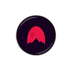 Awesome Photos Collection Minimalist Moon Night Red Sun Hat Clip Ball Marker