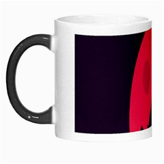 Awesome Photos Collection Minimalist Moon Night Red Sun Morph Mugs