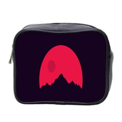 Awesome Photos Collection Minimalist Moon Night Red Sun Mini Toiletries Bag 2-Side