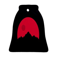 Awesome Photos Collection Minimalist Moon Night Red Sun Ornament (Bell)