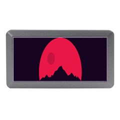 Awesome Photos Collection Minimalist Moon Night Red Sun Memory Card Reader (mini)