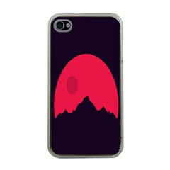 Awesome Photos Collection Minimalist Moon Night Red Sun Apple iPhone 4 Case (Clear)