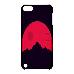 Awesome Photos Collection Minimalist Moon Night Red Sun Apple iPod Touch 5 Hardshell Case with Stand