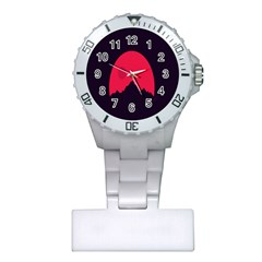 Awesome Photos Collection Minimalist Moon Night Red Sun Plastic Nurses Watch