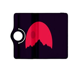 Awesome Photos Collection Minimalist Moon Night Red Sun Kindle Fire HDX 8.9  Flip 360 Case