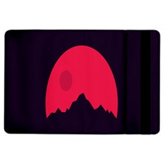 Awesome Photos Collection Minimalist Moon Night Red Sun iPad Air 2 Flip