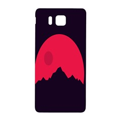 Awesome Photos Collection Minimalist Moon Night Red Sun Samsung Galaxy Alpha Hardshell Back Case