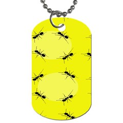 Ant Yellow Circle Dog Tag (One Side)