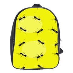 Ant Yellow Circle School Bags(Large)
