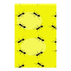 Ant Yellow Circle Shower Curtain 48  x 72  (Small)