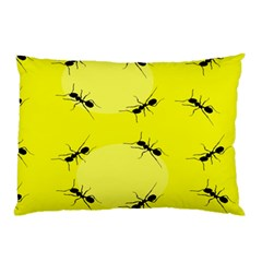 Ant Yellow Circle Pillow Case (Two Sides)