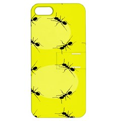 Ant Yellow Circle Apple iPhone 5 Hardshell Case with Stand