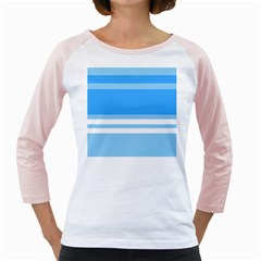 Blue Horizon Graphic Simplified Version Girly Raglans