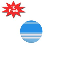 Blue Horizon Graphic Simplified Version 1  Mini Buttons (10 pack)