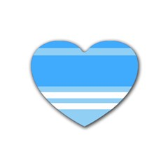 Blue Horizon Graphic Simplified Version Heart Coaster (4 pack)