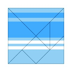 Blue Horizon Graphic Simplified Version Acrylic Tangram Puzzle (6  x 6 )