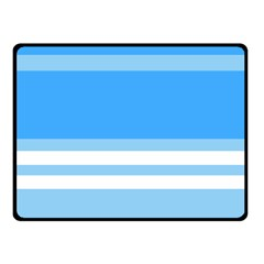 Blue Horizon Graphic Simplified Version Double Sided Fleece Blanket (Small)