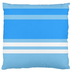 Blue Horizon Graphic Simplified Version Large Flano Cushion Case (Two Sides)