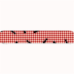 Ant Red Gingham Woven Plaid Tablecloth Small Bar Mats