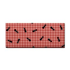 Ant Red Gingham Woven Plaid Tablecloth Cosmetic Storage Cases