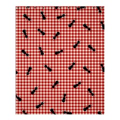 Ant Red Gingham Woven Plaid Tablecloth Shower Curtain 60  x 72  (Medium)