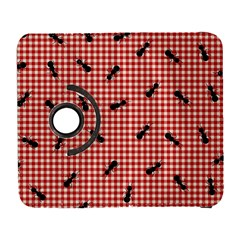 Ant Red Gingham Woven Plaid Tablecloth Galaxy S3 (Flip/Folio)