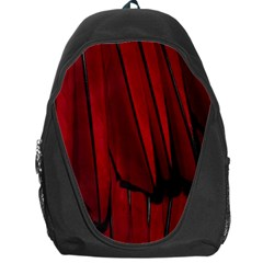 Black Red Flower Bird Feathers Animals Backpack Bag