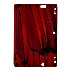 Black Red Flower Bird Feathers Animals Kindle Fire Hdx 8 9  Hardshell Case