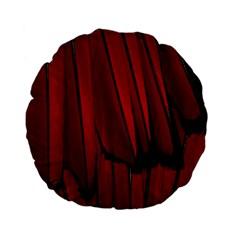 Black Red Flower Bird Feathers Animals Standard 15  Premium Flano Round Cushions