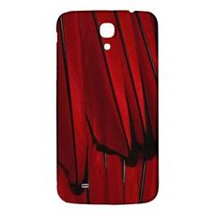 Black Red Flower Bird Feathers Animals Samsung Galaxy Mega I9200 Hardshell Back Case