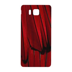 Black Red Flower Bird Feathers Animals Samsung Galaxy Alpha Hardshell Back Case