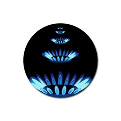 Blue Flame Rubber Round Coaster (4 pack)