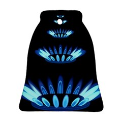 Blue Flame Bell Ornament (Two Sides)