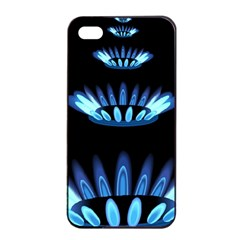 Blue Flame Apple iPhone 4/4s Seamless Case (Black)