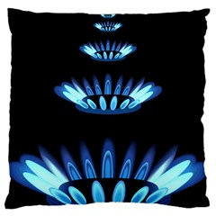 Blue Flame Large Cushion Case (Two Sides)