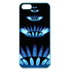 Blue Flame Apple Seamless iPhone 5 Case (Color)