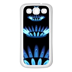 Blue Flame Samsung Galaxy S3 Back Case (White)