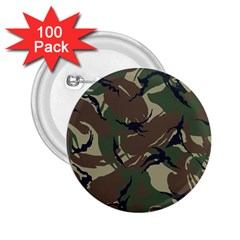 Army Shirt Grey Green Blue 2.25  Buttons (100 pack)