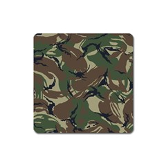 Army Shirt Grey Green Blue Square Magnet