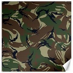 Army Shirt Grey Green Blue Canvas 12  x 12