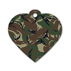Army Shirt Grey Green Blue Dog Tag Heart (Two Sides)