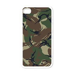 Army Shirt Grey Green Blue Apple iPhone 4 Case (White)